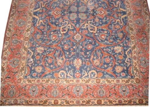 "Tabriz Persian circa 1920 semi antique, Size: 355 x 265 (cm) 11' 8"" x 8' 8""  carpet ID: P-418 All over decorative design, good condition, fine knotted and in its original shape."