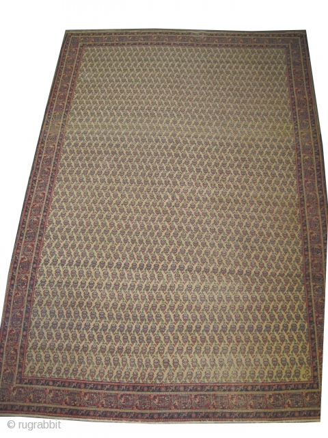 """Tabriz Persian circa 1925 Semi-antique, Size: 300 x 203 (cm) 9' 10"""" x 6' 8""""  carept ID: P-3800 The background color is ivory, the knots are hand spun wool, all over  ..."""
