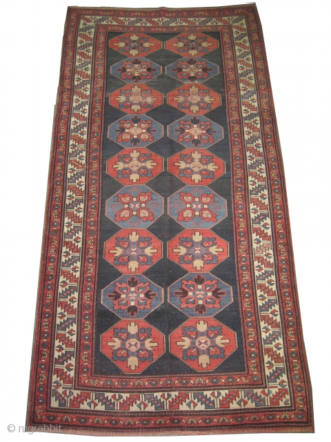 "Lambalo Kazak Caucasian circa 1910 antique. Collector's item, Size: 260 x 126 (cm) 8' 6"" x 4' 2""  carpet ID: K-5083