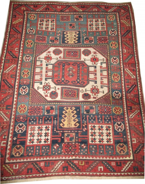 Karatchop Caucasian, knotted circa in 1820, antique, collectors item, 164 x 215 cm, carpet ID: NO-987
