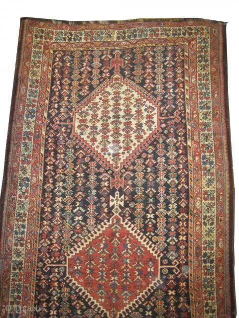 "Louri Kurdistan Persian circa 1910 antique. Collector's item, Size: 363 x 182 (cm) 11' 11"" x 6'  carpet ID: P-6179 High pile, good condition, the last tiny borders (1cm) of the two  ..."