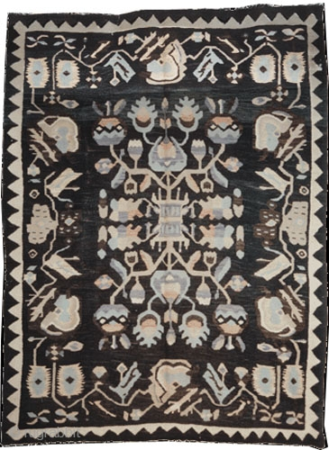 "Art Deco Besarabien kelim circa 1920 semi antique. Collector's item, Size: 248 x 186 (cm) 8' 2"" x 6' 1""  carpet ID: A-494
