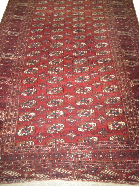 "Yemouth Turkmen circa 1925 Semi antique, Size: 350 x 222 (cm) 11' 6"" x 7' 3""  carpet ID: MMM-15