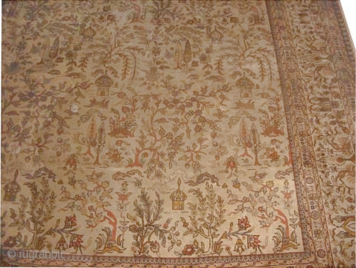 "Tabriz Persian circa 1925 Semi-antique and signed. Size: 533 x 375 (cm) 17' 6"" x 12' 4"" 