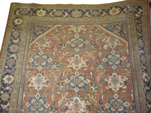 "Mahal Persian knotted circa in 1890 antique, 326 x 235 (cm) 10' 8"" x 7' 8""  carpet ID: P-1535