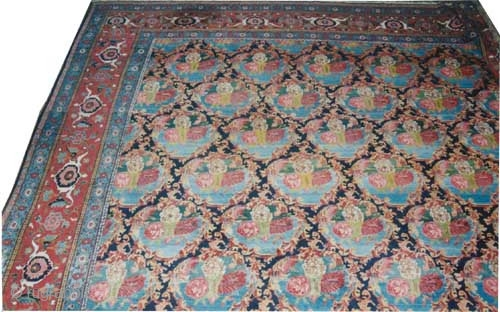 "Senneh Kurdistan Persian, over size carept, circa 1920 Semi antique, Size: 752 x 394 (cm) 24' 8"" x 12' 11"" 