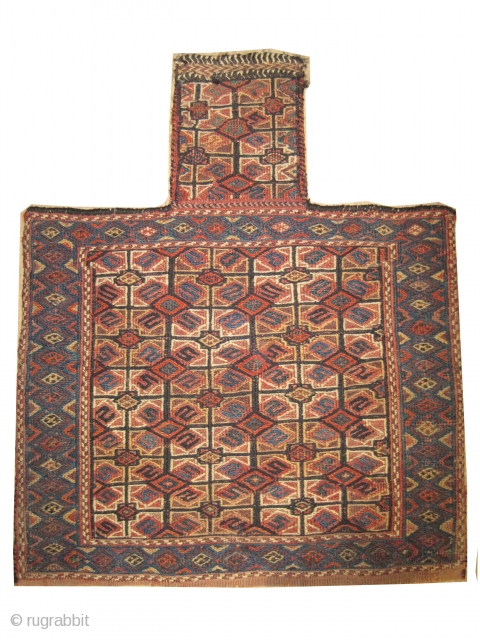 "Namakdar Soumak Caucasian 1890, antique, CarpetID: A-752. Size: 67 x 55 (cm) 2' 2"" x 1' 10"" feet. 