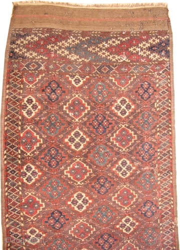 """Tschaudor Turkmen antique.  Collector's item. Carpet ID: K-884   Size: 166 x 100 (cm) 5' 5"""" x 3' 3"""" feet. Fine knotted, a rare example, rare ornaments, vegetable dyes, the brown  ..."""