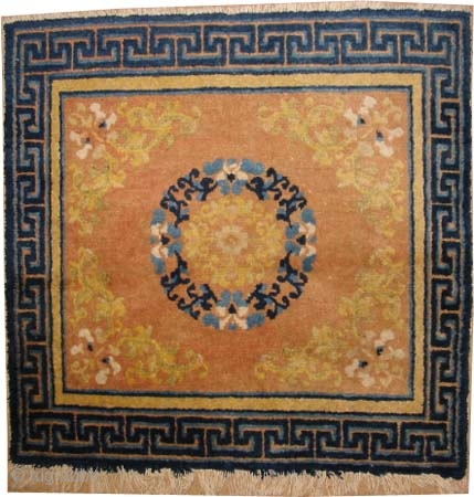"Ningxia Chinese antique. Collector's item. Size: 76 x 73 (cm) 2' 6"" x 2' 5"" carpet ID: K-5613 