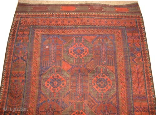 "Belutch, circa 1915, antique, collector's item, Size: 337 x 201 (cm) 11' 1"" x 6' 7"" 