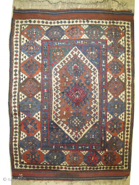 "Kara-Kaçil Turkish circa 1880 antique.  Size: 158 x 128 (cm) 5' 2"" x 4' 2""  carpet ID: K-1231 