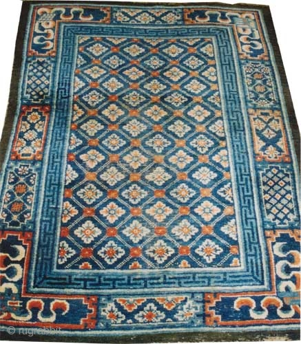 "Chinese circa 1885 antique. Size: 215 x 165 (cm) 7' 1"" x 5' 5"" 
