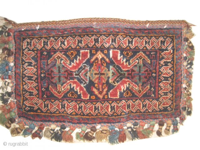 "Afshar circa 1910. Antique, collector's item, Size: 51 x 30 (cm) 1' 8"" x 1' 