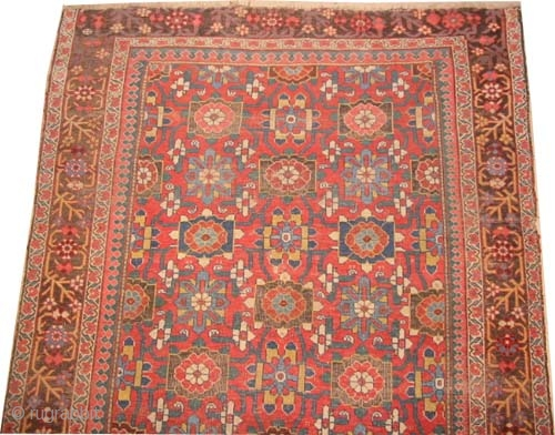 "Bidjar Halvai Persian circa 1880 antique. Collector's item, Size: 413 x 165 (cm) 13' 6"" x 5' 5""  carpet ID: P-4996 