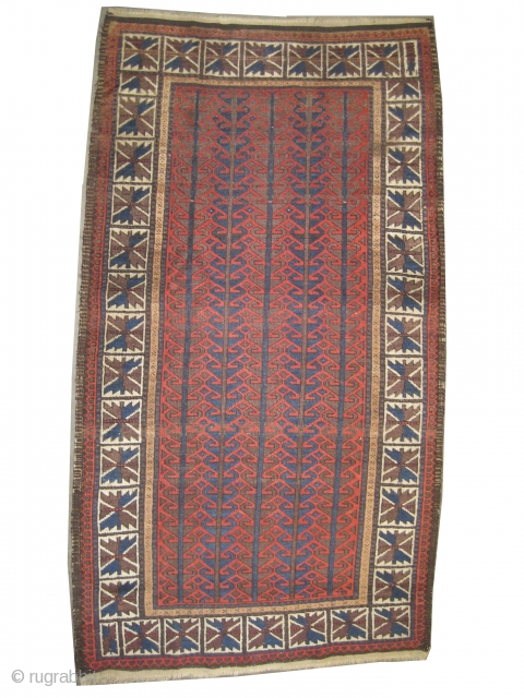 "Belutch Persian circa 1895 antique. Collector's item. Size: 169 x 93 (cm) 5' 6"" x 3' 1"" 