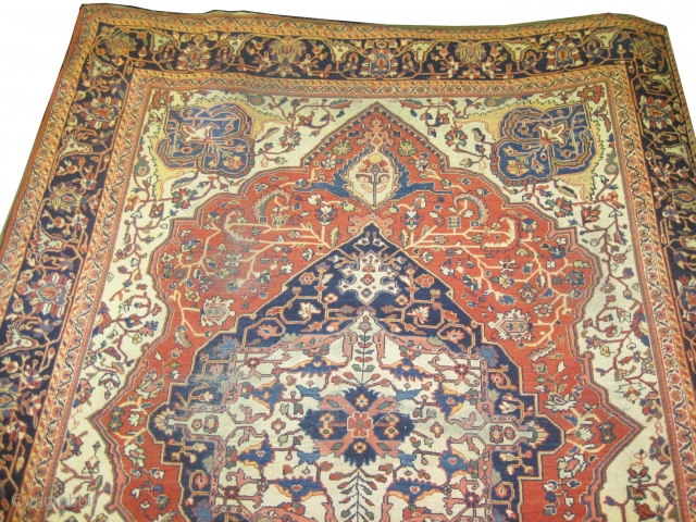 "Ziegler Mahal Persian circa 1900 antique.  Size: 376 x 280 (cm) 12' 4"" x 9' 2""  carpet ID: P-4501