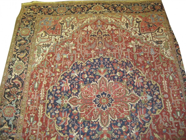 "Serapi-Heriz Persian, knotted circa in 1910 antique, 395 x 303 (cm) 12' 11"" x 9' 11""  carpet ID: P-5171