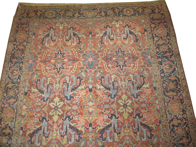 "Heriz Persian, knotted circa in 1920 antique,  348 x 242 (cm) 11' 5"" x 7' 11""  carpet ID: P-2070