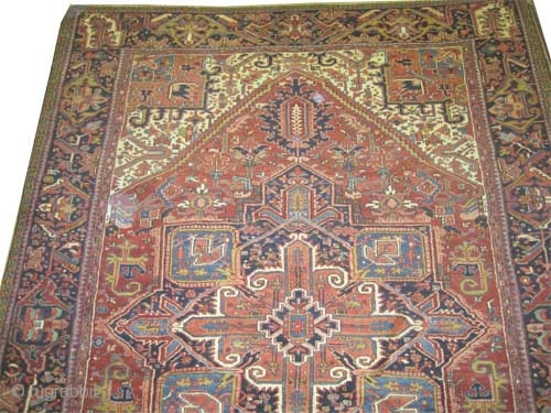 "Heriz Persian circa 1925 semi antique, Size: 405 x 288 (cm) 13' 3"" x 9' 5""  carpet ID: P-414