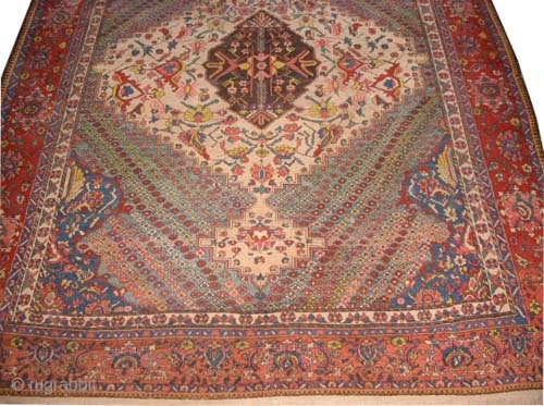 "Baktiar Persian circa 1915 antique. Size: 395 x 310 (cm) 12' 11"" x 10' 2""  carpet ID: P-4764