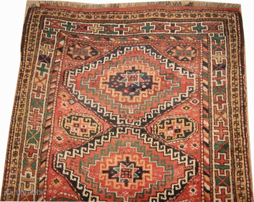 "Gutschan-Kurd Persian knotted circa in 1915 antique. Collector's item, 290 x 162 (cm) 9' 6"" x 5' 4""  carpet ID: E-255