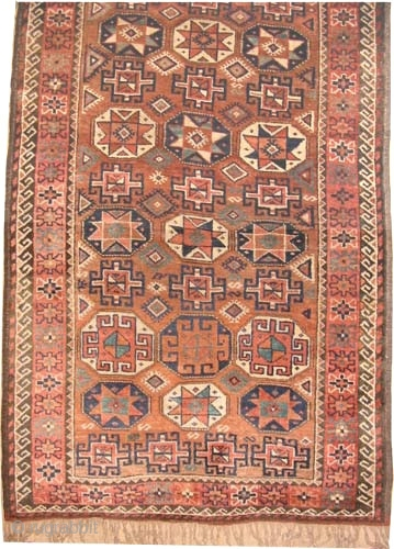 "Gutschan-Kurd Persian knotted circa in 1910 antique. Collector's item. 174 x 116 (cm) 5' 8"" x 3' 10""  carpet ID: E-501