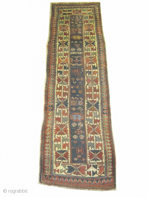 "Talish Caucasian antique, Collector's item. Size: 320 x 95 (cm) 10' 6"" x 3' 1""  carpet ID: K-4415