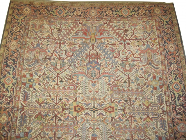 "Heriz Persian circa 1915 antique. Size: 334 x 258 (cm) 10' 11"" x 8' 6""  Carpet ID: P-5240