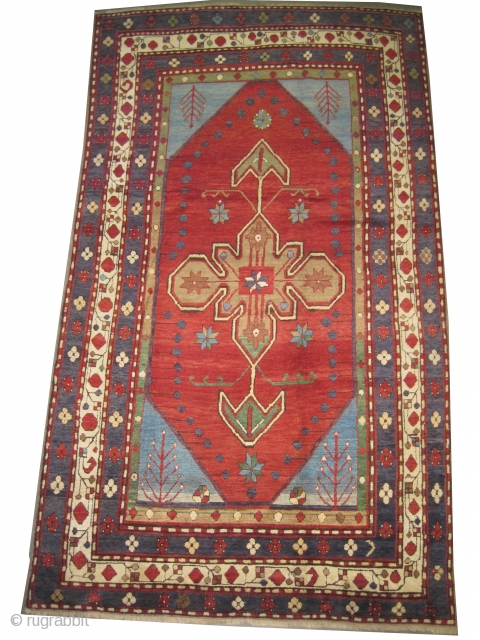 "Lambalo-Kazak Caucasian, knotted circa in 1910 antique, collector's item,  225 x 135 (cm) 7' 5"" x 4' 5""  carpet ID: H-425