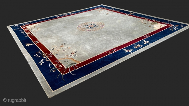 Chinese Art Deco main carpet, circa 1930   This wonderful Art Deco carpet was made in China, circa 1930,  It was custom made in Tientsin for a family home in  ...