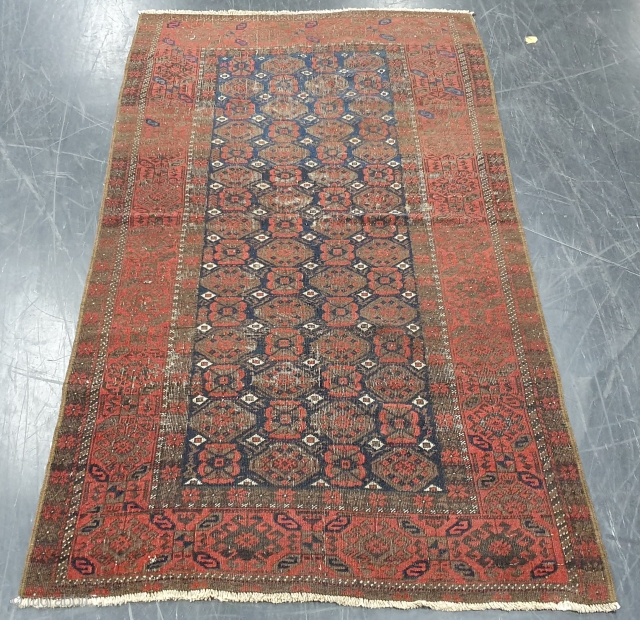 Rug# 7047, Rare and Antique Nomadic Balouch, 19th century, restored, rare & collectible, Persia, size 180x100 cm, cheap freight to anywhere in the world can be arranged, Free freight within Australia