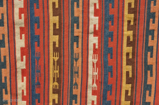 Rare Uzbek kilim / ghudjeri. Size 145 x 270cm / 58 x 108 inches. Complete and in mint condition. Great, all natural colors. Soft and supple handle. Note: pictures taken in full  ...