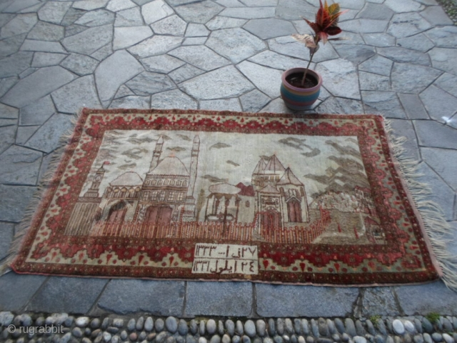 208x118 cm Antique dated 1331/1333 Egira (moon) = Gregorian calendar 1912/1916 (soon).