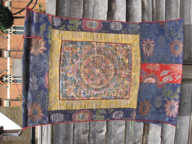 Tibetan hand painted by Monks and late 19th or early 20th Century
