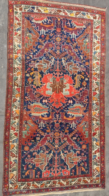 """Antique Malayer Rug with dragon design in perfect condition ans high know count. Size 195x105cm ( 6'4"""" x 3'5"""") touch me for prices and other rugs."""