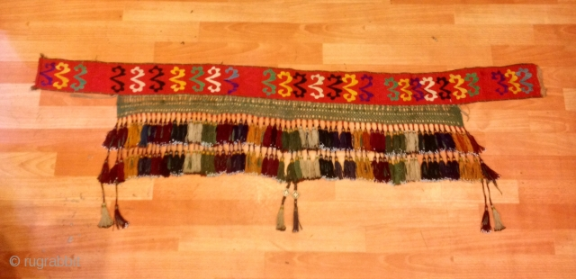 Uzbek asian ethnic tribal tassel Old accessories and silk colored tassel  Very good quality  Size: 100 cm X 35 cm (it is tassel size not fabric the fabric lenght is 150 cm )  FAST WORLDWIDE  ...