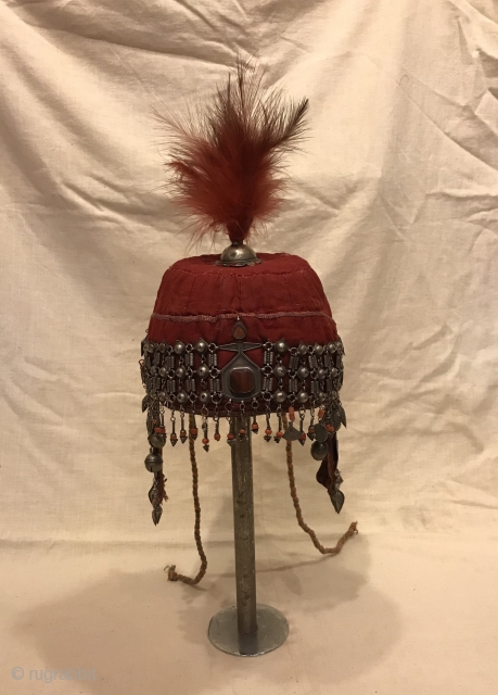 That old Khirgiz ethnic tribal silver hat