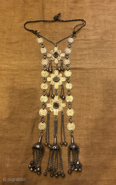 Necklace length: 55 Centimeters; Pendant height: 70 Centimeters; Pendant width: 12 Centimeters
