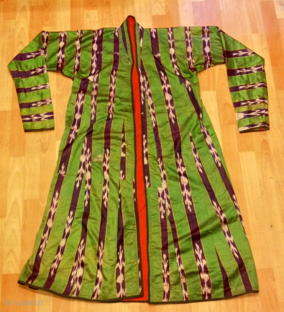 Uzbek tajik silk vintage chapan asian ethnic vintage kaftan 