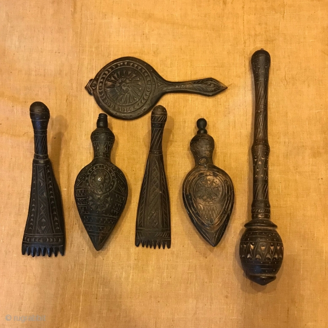 Ethnic tribal handmade ornaments homedecor wood handcrafted   Totally: 6 pieces   Fast free shipping worldwide   Thank you for visiting my shop:)
