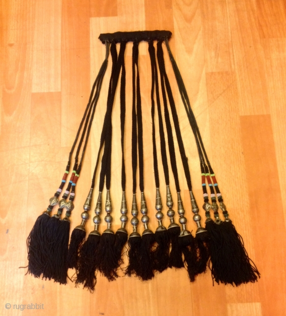Uzbek asian silver tassel