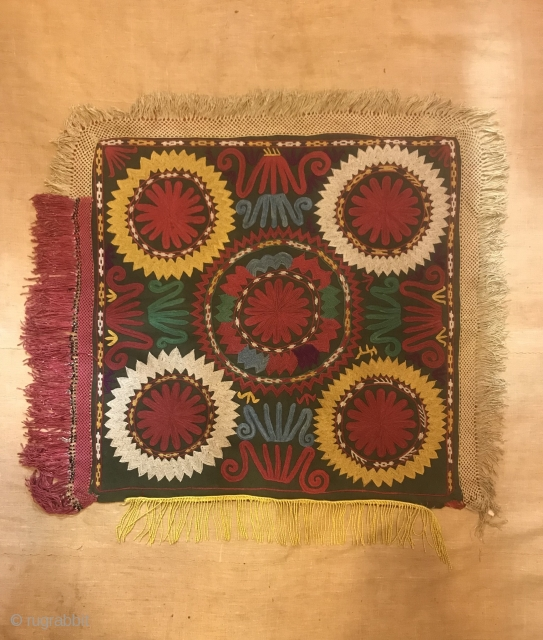Uzbek lakai vintage embroidered Textiles , decoration home wall hanging 