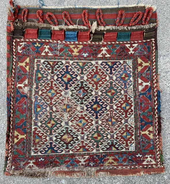 "Shahsavan Soumak Bag - about  22"" x 24"" - 56 x 61 cm."