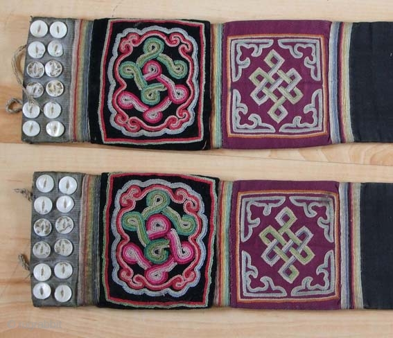 A Pair of Mongolian Etuis for the Plaits (sirbegel)