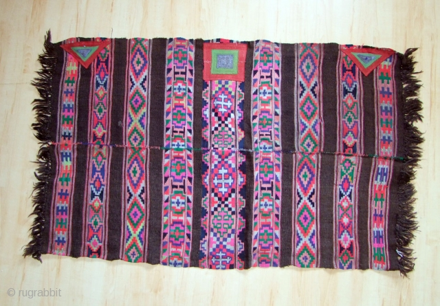 A shawl (ling-chay) from the area of Spiti and Lahoul in HImachal Pradesh, India. Goat wool, felt 20th century 85x120cm I have a collection of textiles from this area, feel free to inquire.