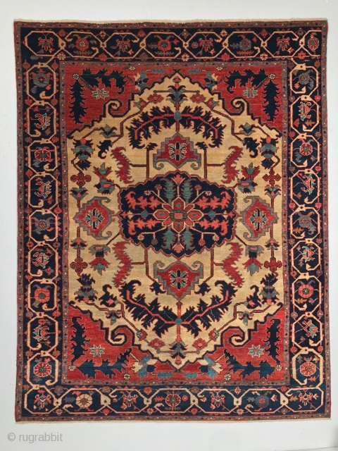 # 5083  A magnificent Bakhshayesh / Serapi carpet from Northwest Persia, Circa late 19th Century with measurement of 4-10 x 6-1 ft, in excellent condition.
