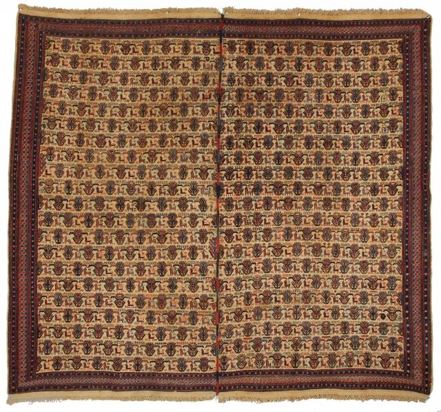 A beautiful Caucasian Verneh, Circa 2nd half 19th. Century, measuring 5-8 x 6-4 ft