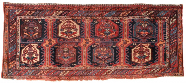 A beautiful Afshar pile Mafrash with large botehs. Southeast Persia, Late 19th century. 1-7 x 3-11 ft. Please have a look at our updated website: www.hazaragallery.com