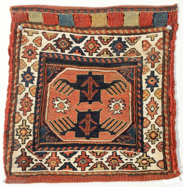 Shahsavan Sumac Bag Chanteh. Late 19th century. 14 x 15 inches.