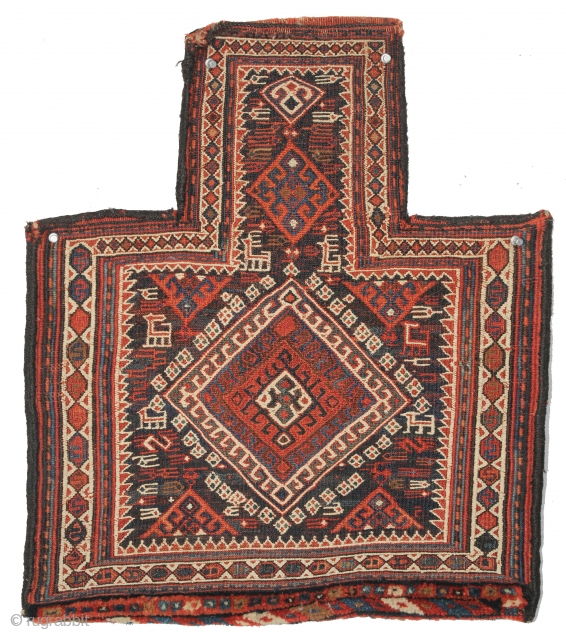 Bakhtiari Sumac Salt Bag, Late 19th Century, 1-8 x 1-10 ft.